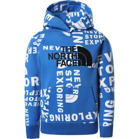 The North Face Drew Peak Felpa con cappuccio P/O Ragazzi, blu